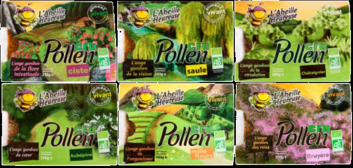 photos des barquettes de pollen frais